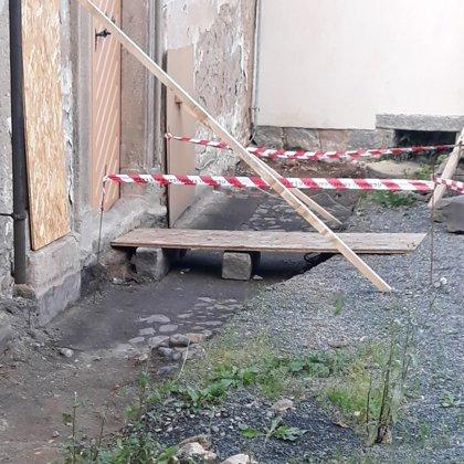 V současné době probíhá odvodnění kostela 2019